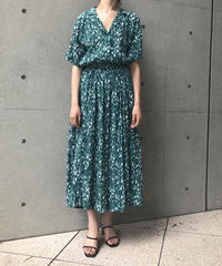 BOTANICAL PATTERN DRESS