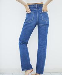 High waist Straight DENIM【BLUE】