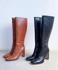Synthetic leather long boots