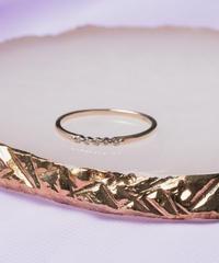 many diamond ring【K10GOLD】