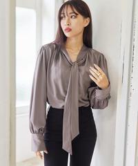Satin ribbon blouse