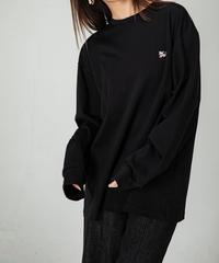 【UNISEX】Koruku 刺繍ロンTEE / BLACK
