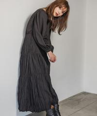 Tiered pleats dress