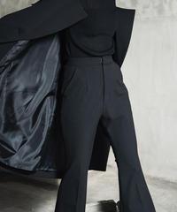 Mannish flare slacks