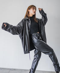 Faux leather jacket / BLACK