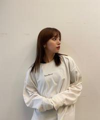 【UNISEX】LEANN LOGO Long TEE / WHITE