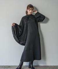 Asymmetry cape dress