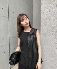 【即納】Faux leather non sleeve