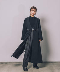 Rope belt robe coat