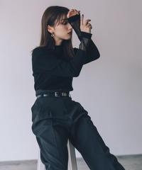 Sheer Cuff Knit TOP / BLACK