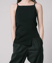 Asymmetry Knit Camisole / BLACK