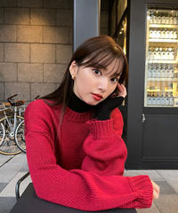 tied color knit top