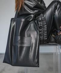 【即納】Faux leather TOTE BAG