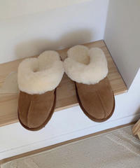 《予約販売》leather far slipper
