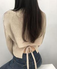 《予約販売》back ribbon rib knit