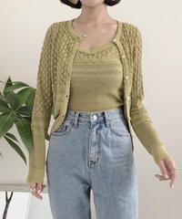 《予約販売》lace summer knit ensemble
