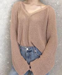 《予約販売》v neck summer knit
