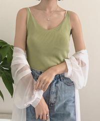 《予約販売》basic knit nosleeve