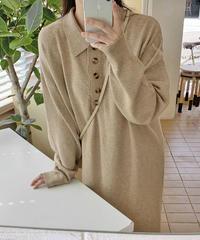 《予約販売》5button knit one-piece