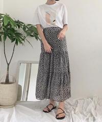 《予約販売》flower print skirt