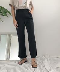 《予約販売》side slit slacks pants