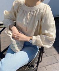 《予約販売》 volume check blouse