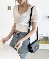 《予約販売》shirring puff sleeve blouse
