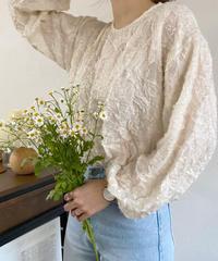 《予約販売》flower motif blouse