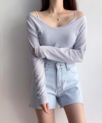 《予約販売》linen camisole T shirt set