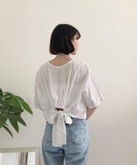 《予約販売》back ribbon linen blend blouse