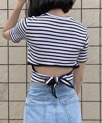 back ribbon T-shirt