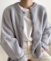 《予約販売》loose fit round cardigan (4color)
