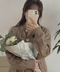 【予約販売】cliche knit cardigan (2color)