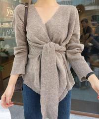 《予約販売》v wrap knit