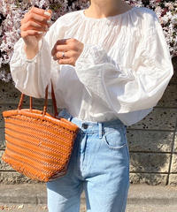 《予約販売》wrinkle band blouse