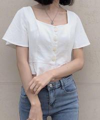 《予約販売》front button square blouse