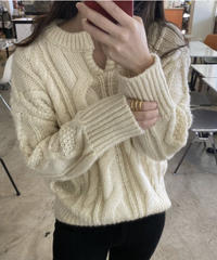 《予約販売》key neck knit