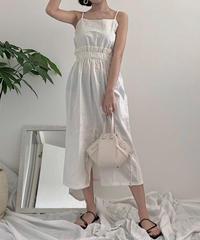 《予約販売》front slit camisole one-piece