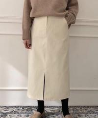 《予約販売》corduroy front slit long skirt