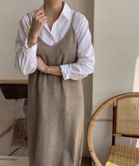 《予約販売》wool 80% v neck long one-piece