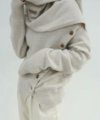 《即納》button muffler Knit