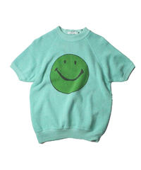 COPY CAT   -  OLD SHORT SLEEVE SWAET SMILE GREEN ①  - size ASORT