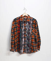 Rebuild by Needles:Ribbon Flannel Shirt - L size #62