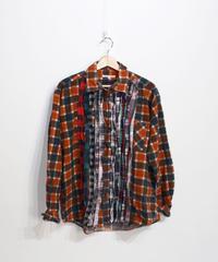 Rebuild by Needles:Ribbon Flannel Shirt - L size #62