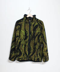 Needles Sportwear:Warm-Up Piping Jacket - Poly Fleece Tiger Camo Stripe