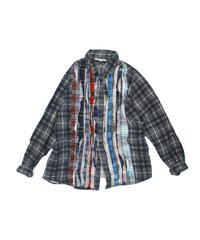 Rebuild by Needles:Ribbon Flannel Shirt - M size #48