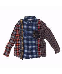 Rebuild by Needles 7 CUT Flannel Shirt BLUE CHK- M size #3