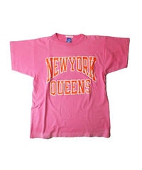 COPY CAT   -コピーキャット-  OLD SHORT SLEEVE TEE -NEWYORK QUEENS  -PINK