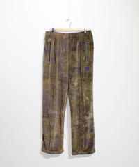 Needles TRACK PANT - C/Poly Velour  Uneven Dye