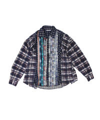 Rebuild by Needles:Ribbon Flannel Shirt wide - onesize #18